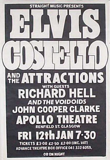Elvis Costello and The Attractions Tour 1979