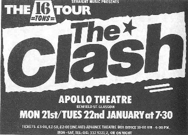 The Clash - 16 Tons Tour Poster