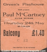 Glasgow Apollo / Who Played When