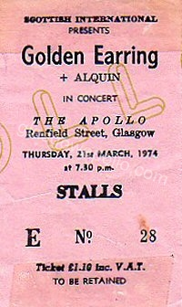 Golden Earring - Alquin - 21/03/1974