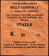 Billy Connolly - 01/09/1975