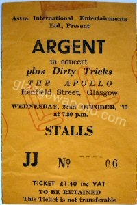 Argent - Dirty Tricks - 22/10/1975