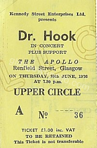 Dr Hook - Unicorn - 10/06/1976