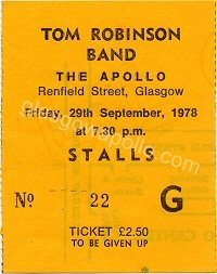 Tom Robinson Band - Stiff Little Fingers - 29/09/1978