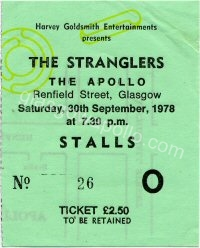 The Stranglers - Cuban Heels - The Valves - 30/09/1978