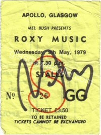 Roxy Music - The Tourists - 08/05/1979