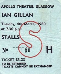 Gillan - Edgar Broughton Band - Gamma - Tygers Of Pan Tang - 04/03/1980