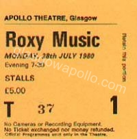 Roxy Music - Martha and the Muffins  - 28/07/1980