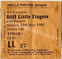 Stiff Little Fingers - The Wall - 24/05/1981