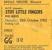 Stiff Little Fingers - 28/10/1982