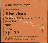 Ticket image courtesy of link to Glasgow Apollo (glasgowapollo.com)