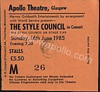 The Style Council - Dizzy Heights - Vaughan Toulouse - 16/06/1985